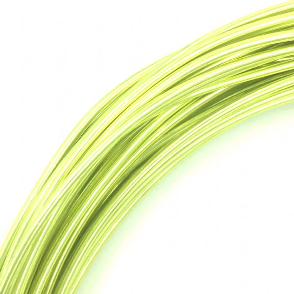 Aluminium wire - 10 metre coil - thickness 1mm - colour - light green